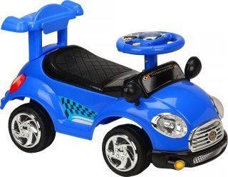 Каталка-машинка Наша Игрушка Трасса пластмасса/металл со звуком синий stellar игрушка каталка машинка цвет синий