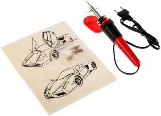 Набор для выжигания MultiArt: выжиг-ый апп., 6 насадок, 2 эскиза Спортивные Машины в кор в кор.100шт набор для выжигания multiart камаз и мотокросс от 6 лет
