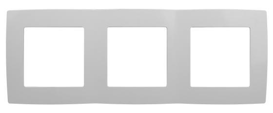 Рамка ЭРА 12-5003-01 на 3 поста, Эра12, белый