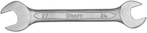 Фото - Ключ рожковый KRAFT КТ 700535 (24 / 27 мм) хром-ванадиевая сталь (Cr-V) ключ рожковый kraft кт 700535 24 27 мм хром ванадиевая сталь cr v