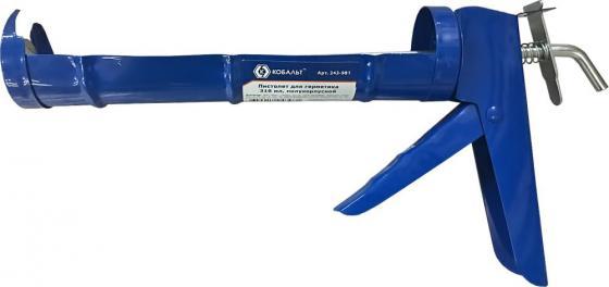 Пистолет для герметика КОБАЛЬТ 243-981 310мл полукорпусной пистолет для герметика stayer 0666 310мл master скелетный усиленный