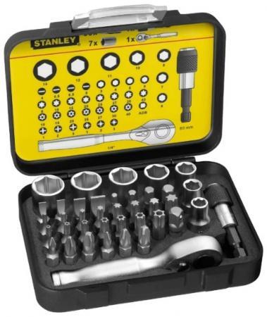 Набор бит STANLEY 1-13-906 и торцевых головок expert 1/4 40шт набор торцевых головок stanley 1 4 1 2 77 предметов expert 1 94 669
