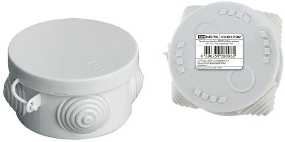 Коробка распаячная ТДМ SQ1401-0502 ОП D85х40мм крышка IP54 4вх. инд.штрихкод распаячная коробка с крышкой оп 240х195х165мм ip44 кабельные ввода d28 3шт d37 2шт tdm sq1401 1273