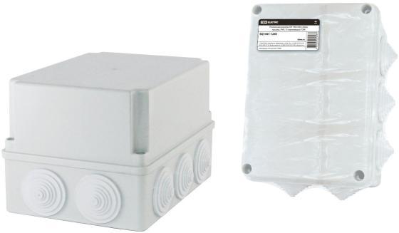Коробка распаячная ТДМ SQ1401-1245 ОП 190х140х120мм крышка IP44 10гермовводов инд.штрихкод распаячная коробка с крышкой оп 240х195х165мм ip44 кабельные ввода d28 3шт d37 2шт tdm sq1401 1273