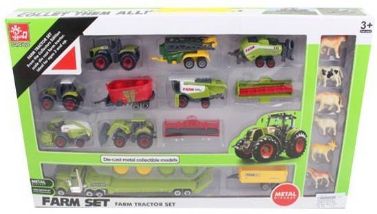 Игр.набор Ферма, техника 10шт., фигурки 6шт., аксессуары для трактора 2шт., аксессуары 4шт., коробка