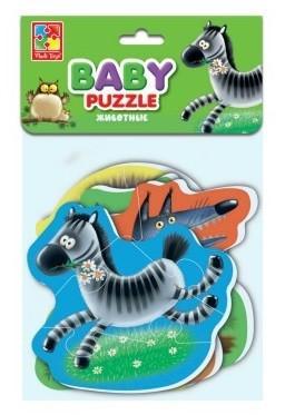 Мягкий пазл 16 элементов Vladi toys Животные мягкий пазл vladi toys животные 16 элементов