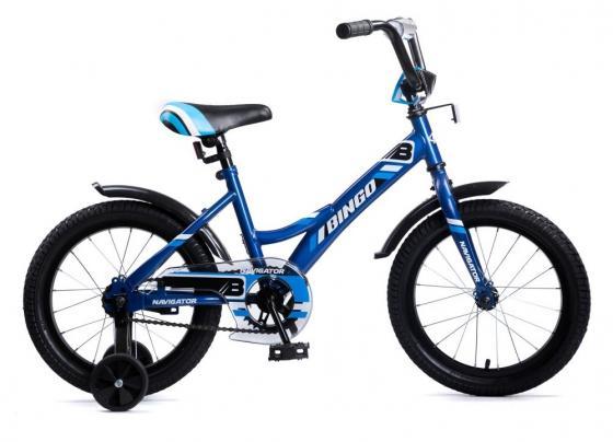 """Велосипед четырёхколёсный Navigator BINGO 16"""" синий велосипед navigator супермен 16"""