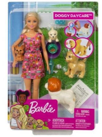 Кукла Barbie (Mattel) Кукла Barbie и щенки колени куклы сгибаются цена и фото