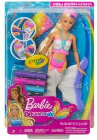 Кукла Barbie (Mattel) Цветная русалочка кукла mattel barbie радужная русалочка dhc40