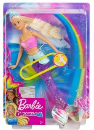 Кукла Barbie (Mattel) Сверкающая русалочка светящаяся кукла mattel barbie радужная русалочка dhc40