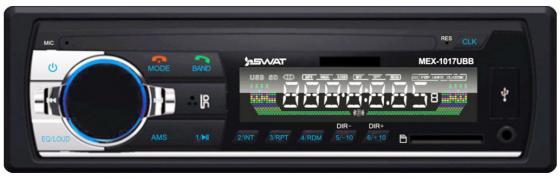 Автомагнитола Swat MEX-1017UBB 1DIN 4x50Вт автомагнитола swat wx 214ub