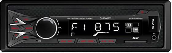 Автомагнитола Swat MEX-1045UBA 1DIN 4x50Вт автомагнитола kenwood kmm 105ay 1din 4x50вт