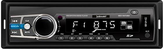 Автомагнитола Swat MEX-1047UBW 1DIN 4x50Вт автомагнитола cd kenwood kdc 130ug 1din 4x50вт