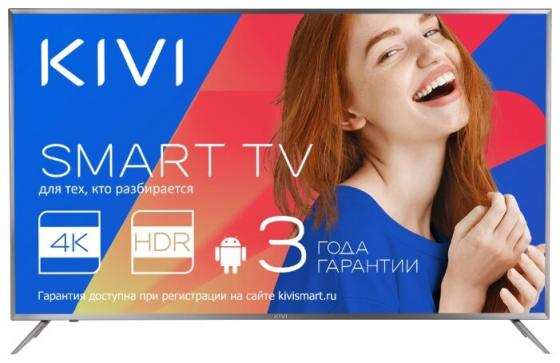 Телевизор 55 Kivi 55UR50GR черный 3840x2160 50 Гц Wi-Fi Smart TV RJ-45 Bluetooth телевизор 55 kivi 55ur50gr 4k uhd 3840x2160 smart tv серый