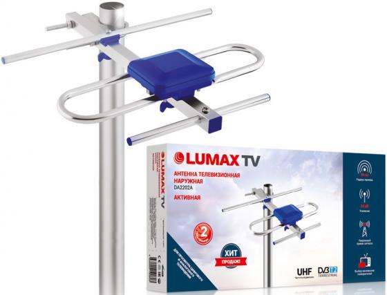 цена Антенна ТВ LUMAX/ наружная активная Алюминий + ABS-пластик, Ку до 24 дБ, RG-59 5 м онлайн в 2017 году