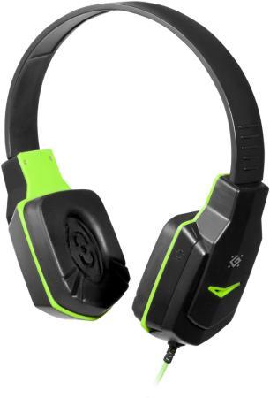 все цены на Игровая гарнитура проводная Defender Warhead G-320 черный зеленый онлайн