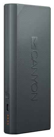 Внешний аккумулятор Power Bank 10000 мАч Canyon CNE-CPBF100DG темно-серый H2CNECPBF100DG canyon cns tpbp10 10000 мач темно серый