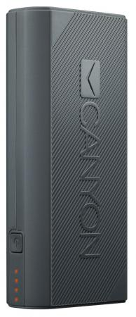 Внешний аккумулятор Power Bank 4400 мАч Canyon CNE-CPBF44DG темно-серый H2CNECPBF44DG canyon cns tpbp10 10000 мач темно серый