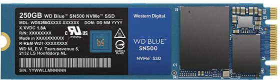 Накопитель SSD WD Original PCI-E x2 250Gb WDS250G1B0C Blue M.2 2280 hdd накопитель western digital wd blue mobile 500 gb wd5000lpcx