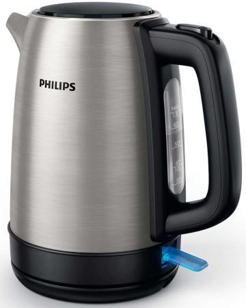 лучшая цена Чайник Philips Daily Collection HD9350/91 2200 Вт серебристый 1.7 л металл