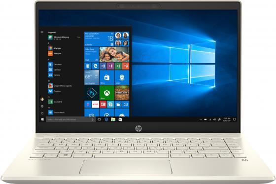 """купить Ноутбук HP Pavilion 14-ce2002ur 14"""" 1920x1080 Intel Core i3-8145U 128 Gb 4Gb Bluetooth 5.0 Intel UHD Graphics 620 золотистый Windows 10 Home 6PR71EA по цене 35770 рублей"""