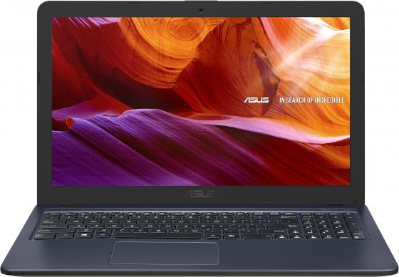 "Ноутбук Asus VivoBook X543UA-DM1467 Pentium 4417U/4Gb/500Gb/DVD-RW/Intel UHD Graphics 620/15.6""/FHD (1920x1080)/Endless/grey/WiFi/BT/Cam ноутбук lenovo b71 80 17 3 intel pentium 4405u 2 1ghz 4gb 500gb hdd win10 80rj00exrk grey"