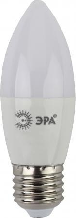 Лампа светодиодная свеча Эра B35-9W-827-E27 E27 9W 2700K лампа энергосберегающая спираль ecowatt mini sp 15w 827 e27 e27 15w 2700k