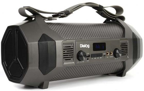 Колонки Dialog Progressive AP-1050 - акустическая колонка-труба, 24W RMS, Bluetooth, FM+USB+SD, LED дисплей акустическая система dialog progressive ap 1100 черный