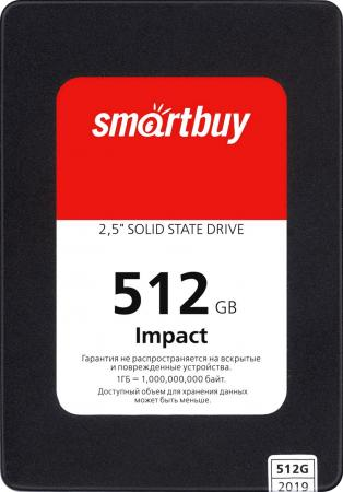 Твердотельный накопитель SSD 2.5 512GB Smartbuy Impact 512GB SATA3 PS3112 DRAM 3D TLC (SBSSD-512GT-PH12-25S3) цена