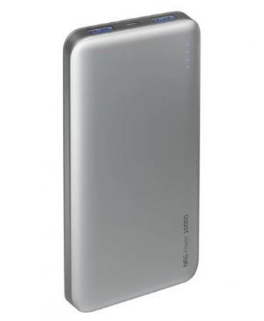 Внешний аккумулятор Deppa NRG Power 10000 mAh, 2.1A, 2xUSB, графит цена и фото