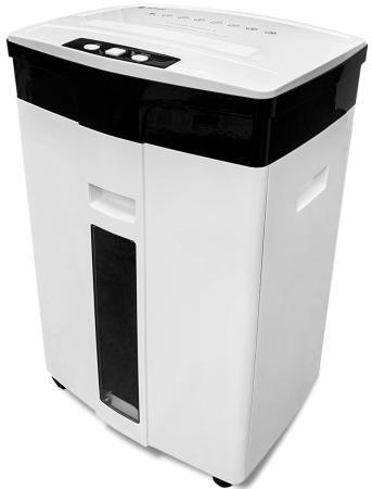Шредер ГЕЛЕОС УМ28-5, DIN P-5 (5 ур-нь секр.), 28 литров, фрагмент 1,9х12мм, 13-14 лист (70г/м2), CD/пл.карты/скрепки/скобы, шредер office kit s220 2x9 din p 5 o 1 t 5 e 2 фрагмент 2x9мм 14 листов 32 литра уничт скобы скрепки пл карты cd