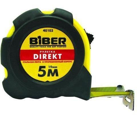 Рулетка Biber 40103 5мx19мм рулетка matrix 31034 5мx19мм