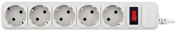 цена на CBR Сетевой фильтр CSF 2500-5.0 5 розеток, 5.0 метров, White PC (пакет)