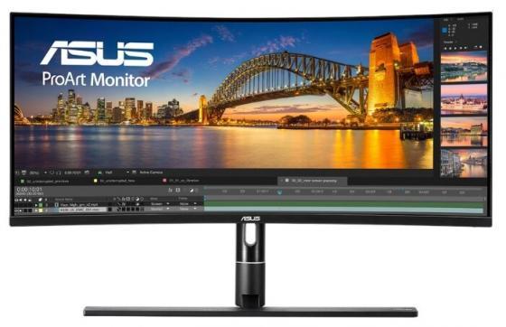 купить Монитор 34 ASUS ProArt PA34VC черный IPS 3440x1440 300 cd/m^2 5 ms DisplayPort USB Type-C Аудио USB Thunderbolt HDMI 90LM04A0-B01370 дешево