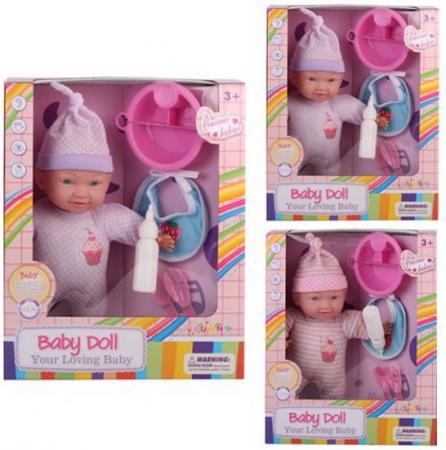 Купить Пупс м/н 30 см, в комплекте кукла, 5 аксессуаров, кор., Наша Игрушка, Классические куклы и пупсы