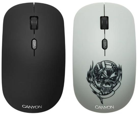 CANYON CND-CMSW401MC {wireless Optical Mouse with 4 buttons, DPI 800/1200/1600, 1 additional cover(Metallica), black, 103*58*32mm, 0.087kg, 2.4GHz} wireless 2 4ghz 800 1600 3200dpi usb optical mouse for mac windows