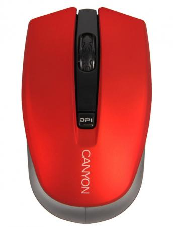 CANYON CNS-CMSW5R {wireless Optical Mouse with 4 buttons, Optical 800/1200/1600, power saving technology, 2.4GHz, Black} wireless 2 4ghz 800 1600 3200dpi usb optical mouse for mac windows