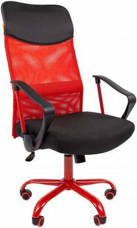 Офисное кресло Chairman 610 Россия 15-21 черный + TW красный /CMet (7021399) офисное кресло chairman 610 черный оранжевый