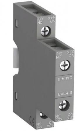 ABB 1SBN010120R1011 Блок контактный дополнительный CAL4-11 (1НО, 1НЗ) боковой для контакторов AF09…AF96 реле NF22E…NF44E цена в Москве и Питере