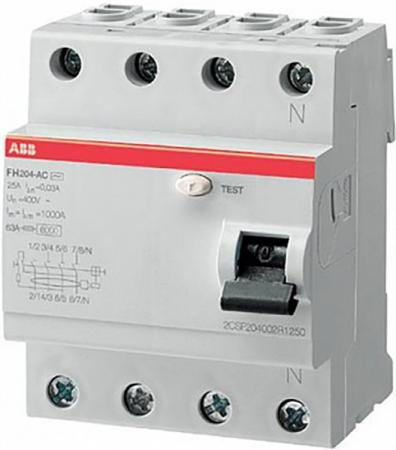 ABB 2CSF204003R3250 Выкл.диф.тока 4мод. FH204AC-25/0,3 цена в Москве и Питере