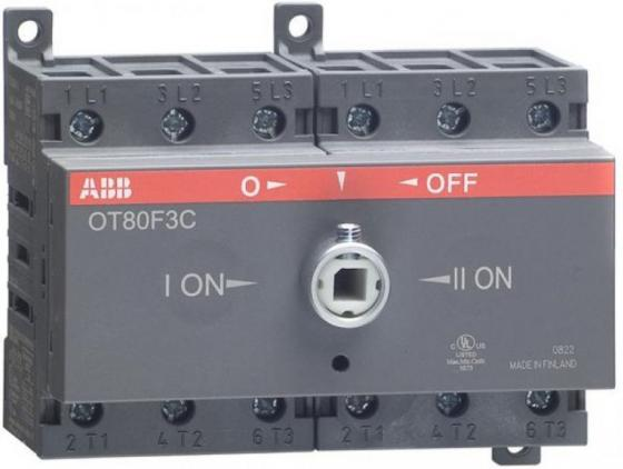 АВВ 1SCA105402R1001 Реверсивный рубильник OT80F3C до 80А 3х-полюсный для установки на DIN-рейку или монтажную плату (без ручки) счетчик электроэнергии многотарифный 1ф авв e31 412 200 1 0 5 80а на din рейку