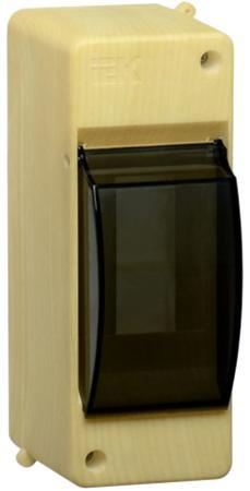 IEK MKP42-N-02-30-20-S Бокс с прозр.крышкой КМПн 2/2 для 2-х авт.выкл. (Сосна) цена