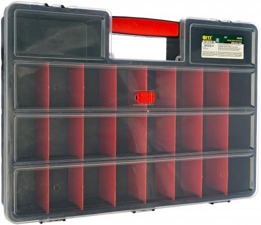 FIT IT Ящик для крепежа (органайзер) 18 (46 х 32 х 8 см) [65650] ящик для инструмента fit 65574 пластиковый 22 56 5 х 35 5 х 29 см