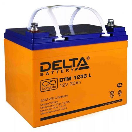 Delta DTM 1233 L (26А\\ч, 12В) свинцово- кислотный аккумулятор awei q5i in ear earphones with mic red