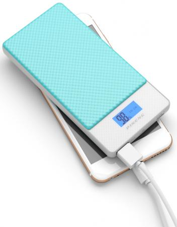 Фото - Внешний аккумулятор Power Bank 10000 мАч Pineng PN-993BL голубой внешний аккумулятор power bank 10000 мач cyberpower cp10000peg белый