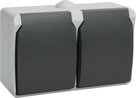 Iek ERS22-K03-16-54-DC РСб22-3-ФСр Розетка двухместная с з/к для открытой установки ФОРС IP54 IEK недорого