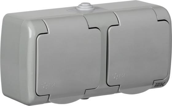 Розетка IEK ERA22-K03-16-54 16 А серый