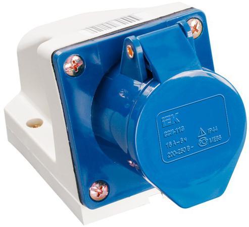 Iek PSR12-032-4 Розетка 124 стационарная 3Р+РЕ 32А 380В IP44 ИЭК цена