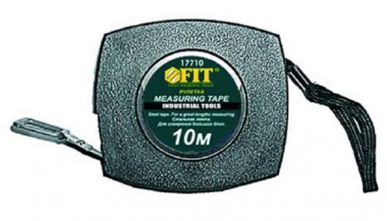Рулетка FIT 17710 10м, стальная лента, пластик.корпус рулетка fit 50м фиброглассовая лента 17550