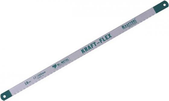 Полотно для ручной ножовки KRAFTOOL 15942-18-S50  kraft-flex по металлу bi-metal 18tpi 300мм 50шт